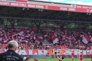 Mehr als 11000 Zuschauer kamen am 1. Juli ins Stadion an der Alten Försterei zum Testspiel gegen Jena. Foto: ddr-oberliga.de